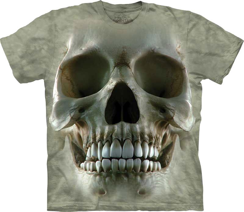 3D футболка the mountain с черепом