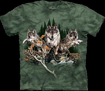 3Dфутболки the mountain с волками
