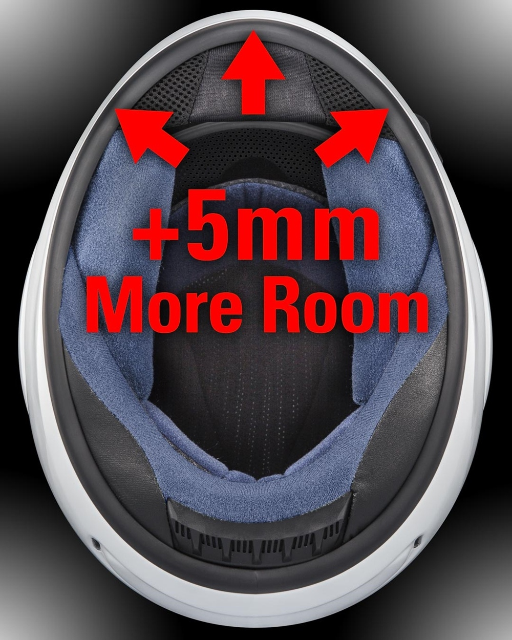 Геометрия шлема Arai Regent-X  - сдвииг на 5 мм