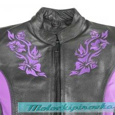 Xelement XS-2027 Embroidered Womens Motorcycle Jacket