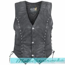 Xelement XS-628 Womens Studded Biker Leather Vest
