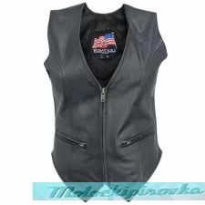 Womens B371 Biker Leather Vest