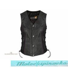 Женский мотожилет Xelement Womens Purple Winged Skull Leather Vest