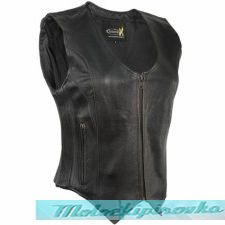 Xelement Womens Reflective Flying Wings Leather Motorcycle Vest
