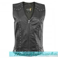 Xelement Womens Dakota Leather Motorcycle Vest