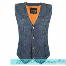 Женский мотожилет Xelement Womens Classic Blue Denim Vest