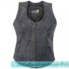 Xelement B-21519 Womens Biker Leather Vest