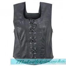 Xelement XS-616 Womens Biker Leather Vest