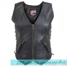 Womens B361 Biker Leather Vest