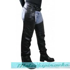Женские мотоштаны Womens Braided Black Leather Chaps