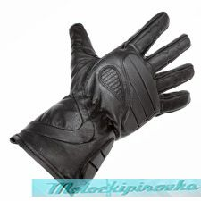 Men's Black Leather Premium Padded Riding Gloves