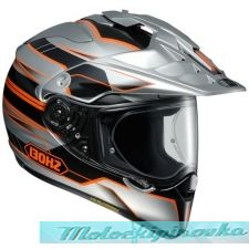 SHOEI мотошлем HORNET ADV NAVIGATE TC-8 ORANGE/SILVER L