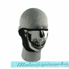Zan Headgear Glow In The Dark Skull Face Neoprene Half Face Mask
