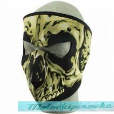 Neoprene Face Mask, Skull Design