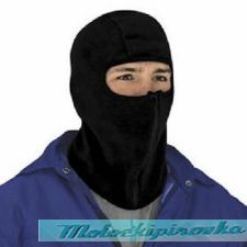 Balaclava, Micro Fleece with Zipper Black Face Mask