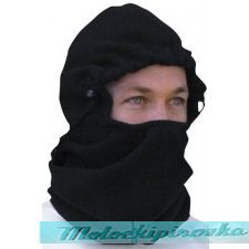 Balaclava, Fleece, Clench Front, Black Face Mask