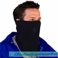 Micro Fleece with Mesh Mouth Black Face Mask