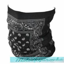 Black Paisley Motley Tube Headgear