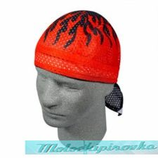 Flydanna Red Flame Vented Polyester Mesh Bandanna