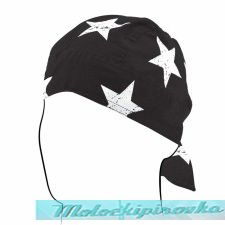 Zan Headgear Cotton Flydanna with Black and White Flame Design