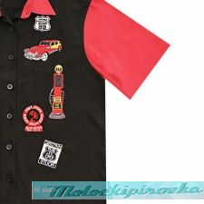 Rockhouse Route 66 Button up Short Sleeve Shirt