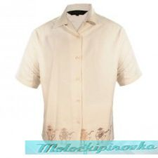 Rockhouse Dancing Skeletons Beige Button up Short Sleeve Shirt