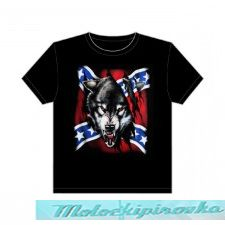 Rebel Flag with Wolf