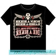Born A Biker, Raised A Biker Motorcycle T-shirt