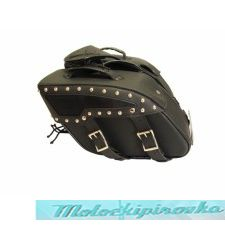 Xelement PVC Zip-Off Chrome Studded Saddlebags