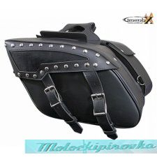 Xelement SH559ZB Two Strap PVC Zip-Off Saddlebags
