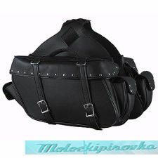 Zip-Off Chrome Platted Rivets Motorcycle Saddlebags