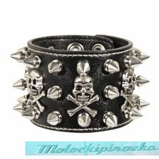 Skull and Crossbones Spike Bracelet