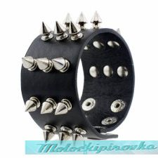 Studded Six Bullet Holder Bracelet