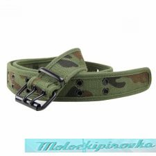 Double Grommet Camo Canvas Belt