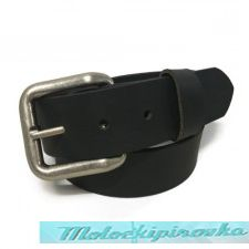 Mens Black Buffalo Coin Leather Belt