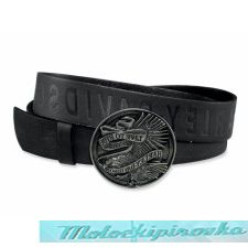 Mens Brown Live to Ride with Eagle Leather Belt