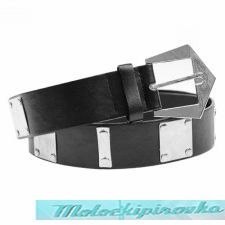 Artillery Black PU Leather Belt