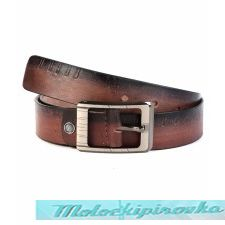 Men's Brown Leather Casual Belt