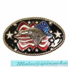 Bald Eagle with American Flag Buckle