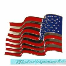 Fire Waving USA Flag Buckle
