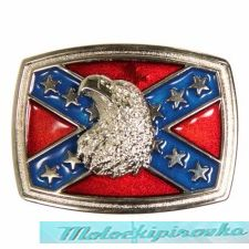 Rebel Flag with Bald Eagle Belt Buckle