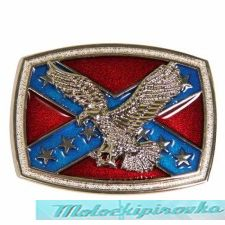 Rebel Flag with Flying Eagle Belt Buckle