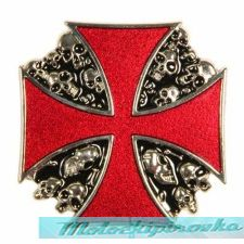 Rebel Cross and Skulls Buckle