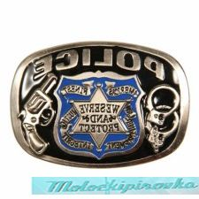 Police We Serve and Protect Buckle