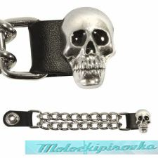 Motorcycle Skull Leather Vest Extender