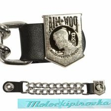 Motorcycle POW Leather Vest Extender