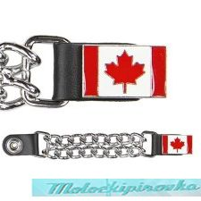 Motorcycle Canada Flag Leather Vest Extender