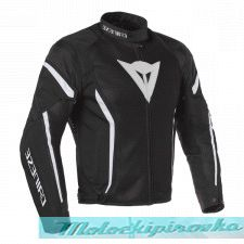 DAINESE AIR CRONO 2 TEX JACKET - BLACK/BLACK/WHITE куртка тек муж 48