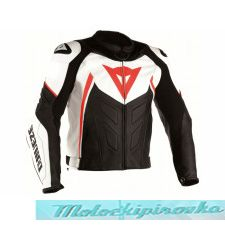 DAINESE AVRO 4 LADY LEATHER JACKET - BLACK-MATT/WHITE/FLUO-RED куртка кож жен 40