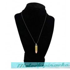 Bullet on Black Cord Necklace